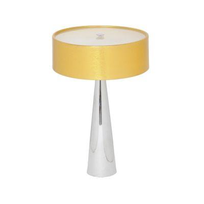 Abajur Aco Alumínio Vidro Fosco Cupula 60x40cm Bella Iluminação 3 E27 Bivolt HO099G Mesas e Criados-Mudos
