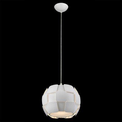 Pendente Vega Policarbonato Acrílico Esfera Branco 24x28cm Bella Iluminação 1 E27 Bivolt HO105 Cozinhas e Entradas