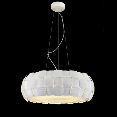 Pendente Vega Policarbonato Acrílico Esfera Branco 20x63cm Bella Iluminação 8 E27 Bivolt HO108 Cozinhas e Entradas