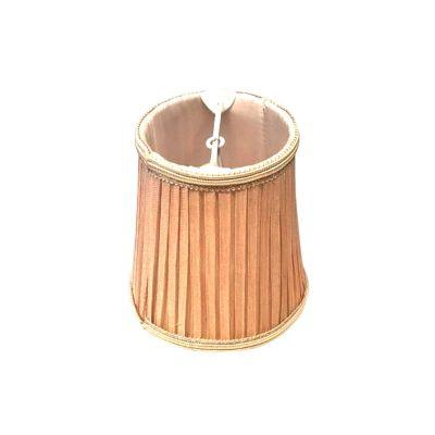 Minicupula Red Tubular Tecido Plissado Bege 11x11cm Bella Iluminação HU052C