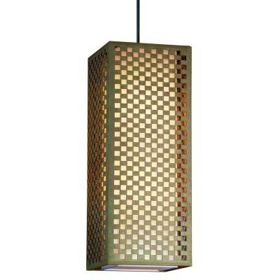 Pendente Camurça Retangular Aço Bege Branco 60x23cm Bella Iluminação 2 E27 Bivolt HU2169AL Cozinhas e Quartos