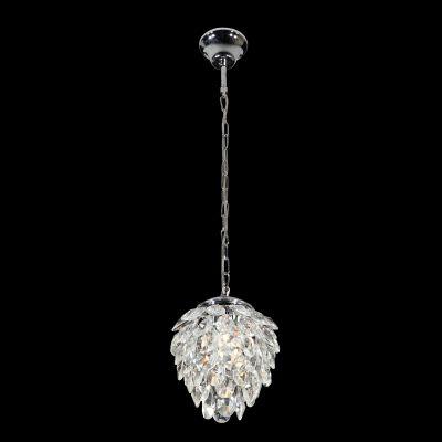Pendente Nut Metal Aço Cristal Transparente 28x23cm Bella Iluminação 2 G9 Halopin Bivolt HU2173 Salas e Hall