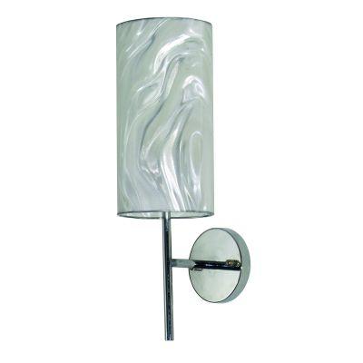 Arandela Acetato Holográfico Metal Cromado 30x15cm Bella Iluminação 1 E27 Bivolt HU5014H Corredores e Entradas