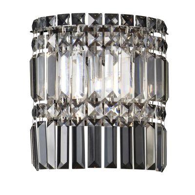 Arandela Charm Cristal Lapidado Transparente 24x22cm Bella Iluminação 2 G9 Halopin Bivolt HU5018 Corredores e Salas