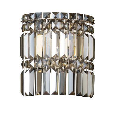 Arandela Charm Cristal Lapidado Âmbar Metal 24x22cm Bella Iluminação 2 G9 Halopin Bivolt HU5018A Corredores e Salas