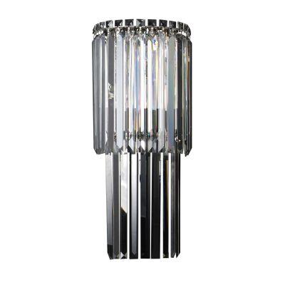Arandela Charm Vertical Cristal Transparente 60x25cm Bella Iluminação 3 G9 Halopin Bivolt HU5019 Corredores e Salas