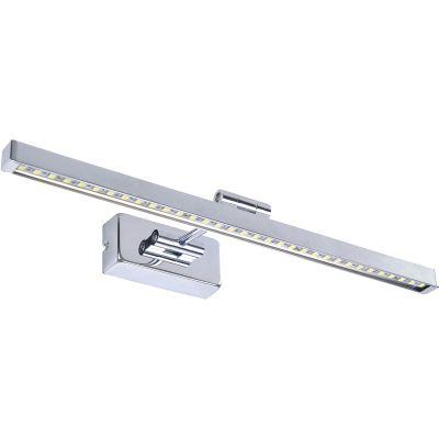 Arandela Blum Calha Espelho Aço Inox Cromada 5,5x46cm Bella Iluminação 1 LED 8W JH502 Espelhos e Banheiros