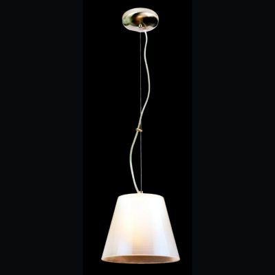 Pendente Aco Acrílico Metal Cromado Vidro Branco 19x23,5cm Bella Iluminação 1 E27 Bivolt JU2003P Balcões e Cozinhas