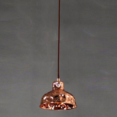 Pendente Brass Sino Vertical Metal Cobre 13,5x17,5cm Bella Iluminação 1 G9 Halopin Bivolt JY007B Balcões e Mesas
