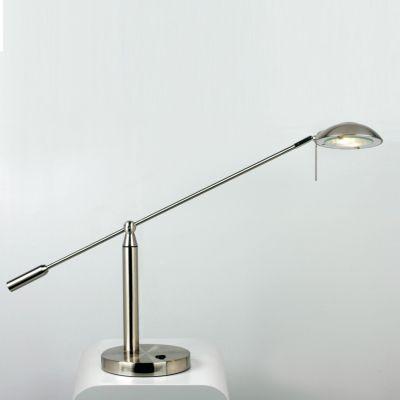 Luminária de Mesa Articulada Metal Escovado Ø73cm Bella Iluminação 1 G9 Halopin Bivolt LI0718 Mesas e Balcões