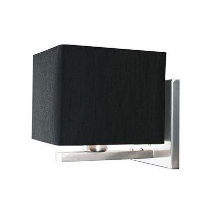Arandela Box Dalas Alumínio Lixado Cúpula em Tecido Bivolt 16x16cm E-27 Eletrônica Munclair 2276 Quartos e Salas