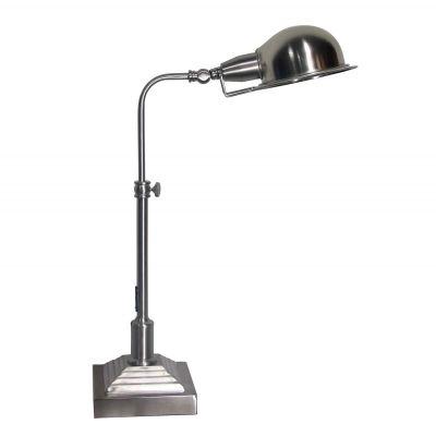 Luminaria de Mesa Ajustável Metal Cromado 55x43cm Bella Iluminação 1 E27 Bivolt LU011 Mesas e Escritórios