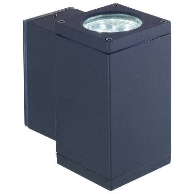 Arandela Externa Block Alumínio Preto 6x10cm Bella Iluminação 1 LED 6W Bivolt LX1032B Muros e Jardins
