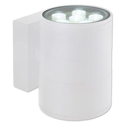 Arandela Externa Block Alumínio Branco 14,5x11cm Bella Iluminação 1 LED 12W Bivolt LX1042W Muros e Jardins