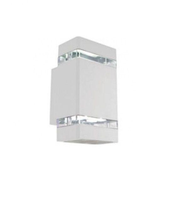 Arandela LED Alumínio Retangular Branca 10,5x11cm Bella Iluminação 1 LED 8W LX1064W Corredores e Entradas