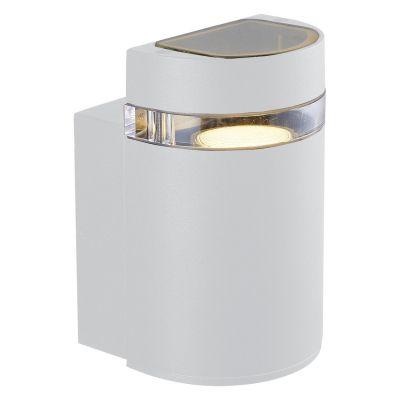 Arandela Externa Trace Alumínio Branco 10,5x10cm Bella Iluminação 1 GU10 Dicróica LX7181W Entradas e Muros