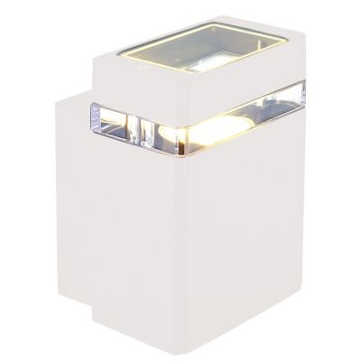 Arandela Externa Trace Alumínio Branco 10,5x11cm Bella Iluminação 1 GU10 Dicróica LX7191W Entradas e Muros