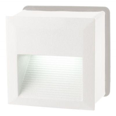 Balizador Embutido Dash Quadrado LED Alumínio 8,5x12,5cm Bella Iluminação 1 LED 6W Bivolt LX9643 Quartos e Lavabos