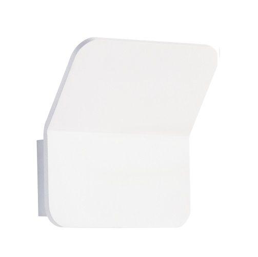 Arandela Vertical Fine LED Alumínio Branco 14x15cm Bella Iluminação 1 LED 6W LZ005W Corredores e Entradas