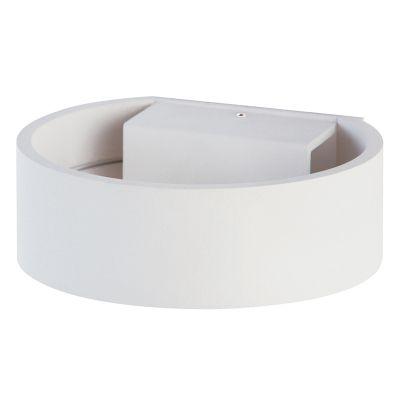 Arandela Alca Redonda LED Alumínio Branco 14x16cm Bella Iluminação 1 LED 9W Bivolt LZ018A Corredores e Quartos