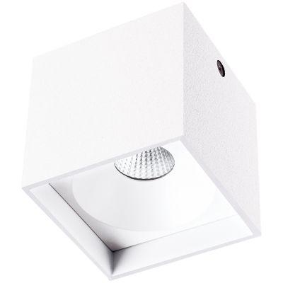 Spot Sobrepor Kube Cubico Alumínio Branco Ø8cm Bella Iluminação 1 LED 4W 127V LZ045A Escritórios e Entradas