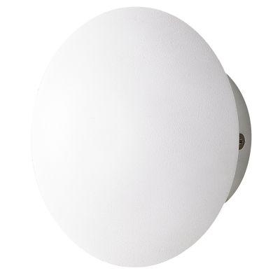 Arandela Vitro LED Metal Branco Redondo 6,5x12cm Bella Iluminação 1 LED 3W Bivolt MG009 Entradas e Quartos