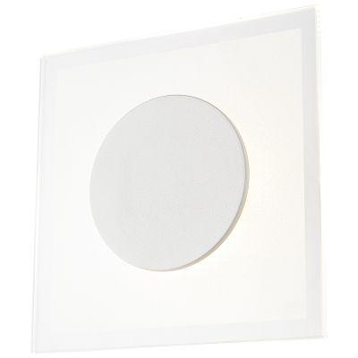 Arandela Pip Quadrada Metal Vidro Fosco 4x20cm Bella Iluminação 1 LED 8W Bivolt MG013 Corredores e Entradas