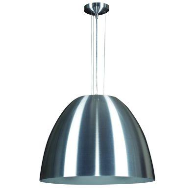 Pendente Sino Vertical Alumínio Escovado 54x60cm Bella Iluminação 1 E27 Bivolt MH001A Cozinhas e Entradas