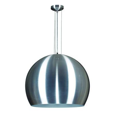 Pendente Esfera Vertical Alumínio Escovado 27x60cm Bella Iluminação 1 E27 Bivolt MH003A Cozinhas e Entradas