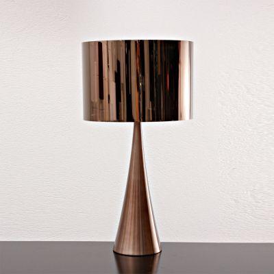 Abajur Acetato Metal Bronze Cupula Redonda 66x35cm Bella Iluminação 1 E27 Bivolt MH0703B Cabeceiras e Mesas