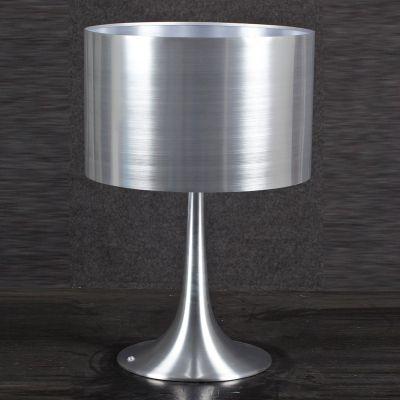 Abajur Acetato Cupula Alumínio Escovado Conico 57x38cm Bella Iluminação 1 E27 Bivolt MH565A Cabeceiras e Mesas