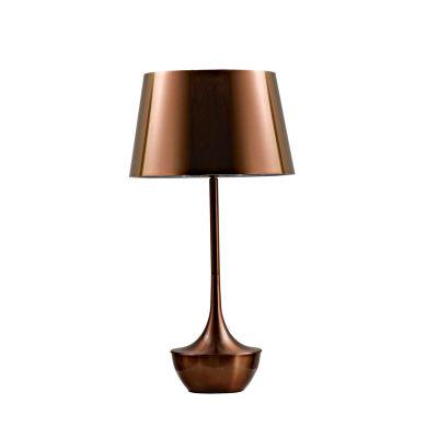 Abajur Espelhado Acetato Alumínio Bronze 69x37cm Bella Iluminação 1 E27 Bivolt MH6093B Cabeceiras e Criados-Mudos