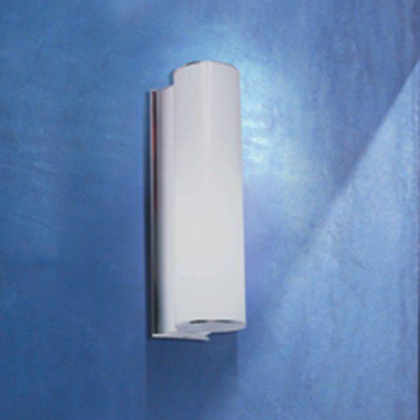 Arandela Vertical Alumínio Cromado Vidro Branco 32x6cm Bella Iluminação 2 E14 Bivolt MO00062W Quartos e Salas