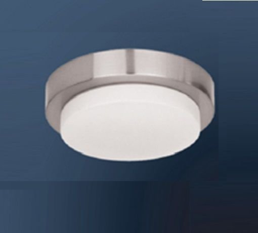Plafon Sobrepor Redondo Aço Cromado Vidro Branco 7x23cm Bella Iluminação 3 G9 Halopin MO00083C Salas e Quartos