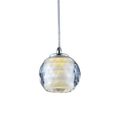 Pendente Golf Metal Esfera Vidro Transparente Ø10cm Bella Iluminação 1 G9 Halopin MO2580 Balcões e Entradas