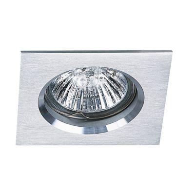 Spot Embutido Fit Quad Alumínio Branco 5x6cm Bella Iluminação 1 GU10 Minidicróica Bivolt NS1003B Quartos e Salas