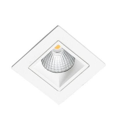 Spot Embutido Jan LED Quadrado Alumínio Branco 6x9,5cm Bella Iluminação 1 LED 5W Bivolt NS1013 Salas e Cozinhas