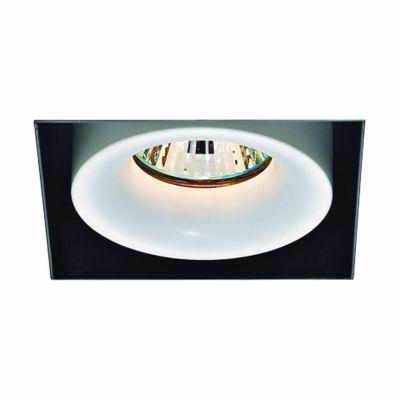 Spot Aro No Frame Alumínio Branco Preto 11,5x9,1cm Bella Iluminação 1 GU10 Dicróica 50W Bivolt NS1029 Salas e Hall