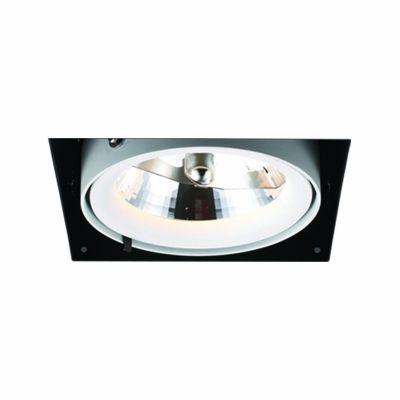 Spot Aro No Frame Alumínio Branco Preto 12,3x14,5cm Bella Iluminação G53 1 AR111 50W Bivolt NS1031 Quartos e Salas