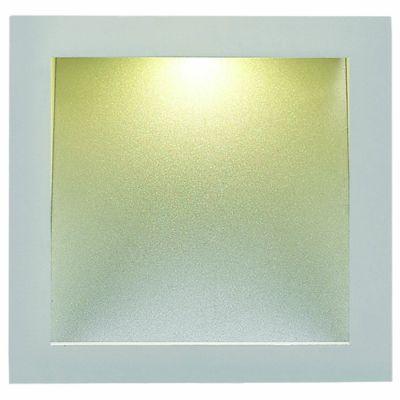 Balizador Embutido Alumínio LED Quadrado Alumínio 8,3x5,1cm Bella Iluminação 1 LED Bivolt NS1037 Lavabos e Salas