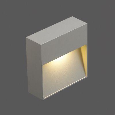 Balizador LED Quadrado Alumínio Sobrepor Branco 3,4x10,2cm Bella Iluminação 1 LED Bivolt NS1038S Quartos e Lavabos