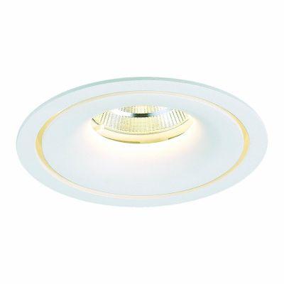 Spot Embutido Halo LED Alumínio Redondo Branco 7x14cm Bella Iluminação 1 LED 24W Bivolt NS1061 Corredores e Salas