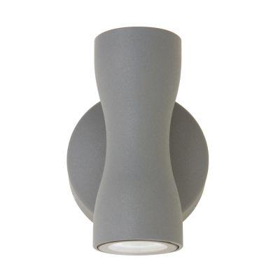 Arandela Vertical Duet LED Alumínio Grafite 12x8,3cm Bella Iluminação 2 LED 2,5W Bivolt NS1890S Corredores e Salas