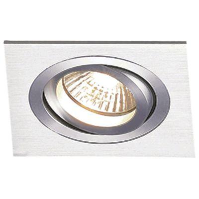 Spot Embutido Ecco Quad Alumínio Escovado 5x7,6cm Bella Iluminação 1 Minidicróica Bivolt NS5101A Salas e Quartos
