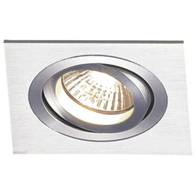 Spot Embutido Ecco Quad Direcionável Escovado 6,5x17cm Bella Iluminação 1 AR111 Bivolt NS5111A Corredores e Salas