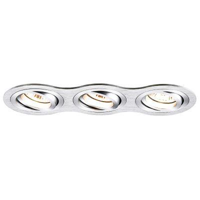 Spot Embutido Ouse Red Triplo Alumínio 5,8x25,4cm Bella Iluminação 3 GU10 Dicróica Bivolt NS5600-3A Quartos e Salas