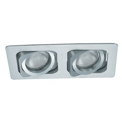 Spot Embutido Ret Monet Duplo Alumínio Branco 11,5x24cm Bella Iluminação 2 PAR20 Bivolt NS6202B Cozinhas e Salas