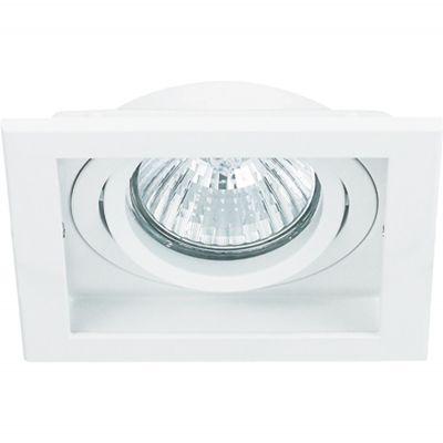 Spot Embutido Conecta Quad Alumínio Branco 4x9cm Bella Iluminação 1 GU10 Minidicróica Bivolt NS7351B Salas e Hall