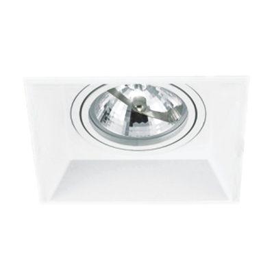 Spot Embutido Geo Quad Alumínio Branco 8x12,5cm Bella Iluminação 1 GU10 Dicróica Bivolt NS950 Cozinhas e Banheiros