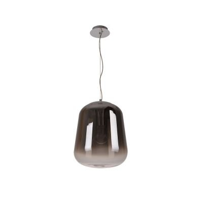 Pendente Spec Metal Cromado Vidro Fumê Degradê 38x32cm Bella Iluminação 1 E27 Bivolt OD035 Cozinhas e Balcões